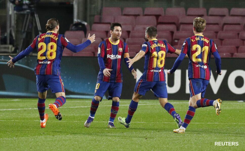 Barcelona celebra el gol