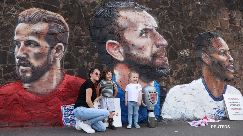 Gareth Southgate en un mural