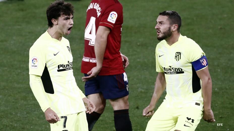 Joao Félix celebra su gol ante Osasuna