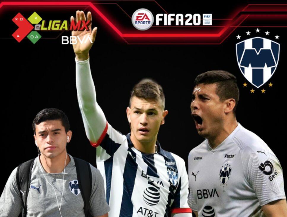 Los jugadores de Rayados de Monterrey para la e Liga MX