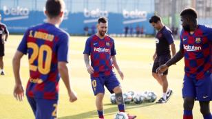 Lionel Messi regresa a los entrenamientos del Barcelona tras su lesión
