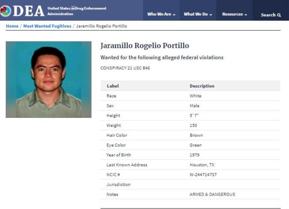 El candidato de Morena de Huetamo, Michoacán, Rogelio Portillo Jaramillo figura en la lista de los más buscados por la DEA.