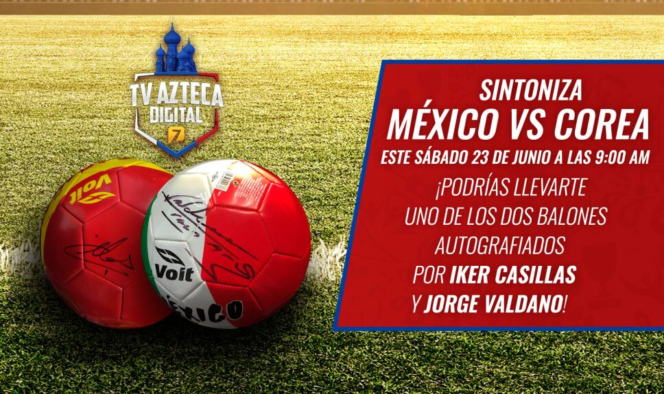 Balones Autografiarlos México vs Corea