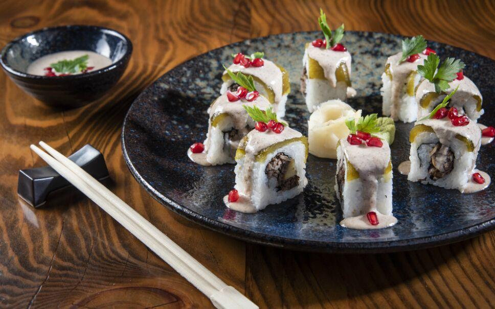 Sushi en nogada