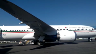 Avión presidencial sale a Estados Unidos
