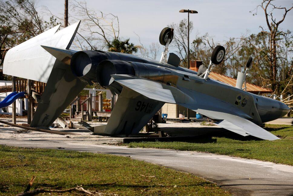 Avioneta caída por huracán Michael en Florida
