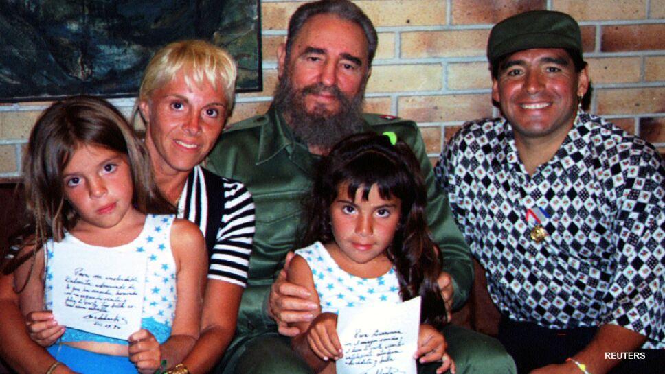 Diego Armando Maradona y Fidel Castro