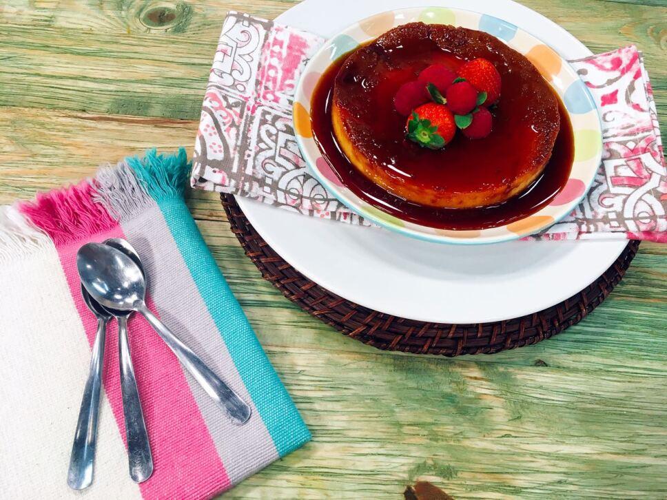 flan napolitano, receta, postre, cocineros mexicanos, tv azteca