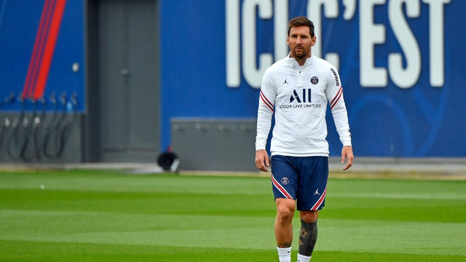 Lionel Messi entrena con el PSG