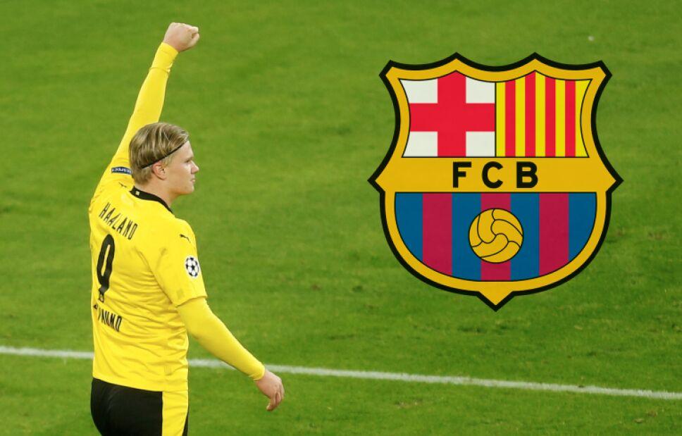 Prometen contratar a Haaland en el Barcelona