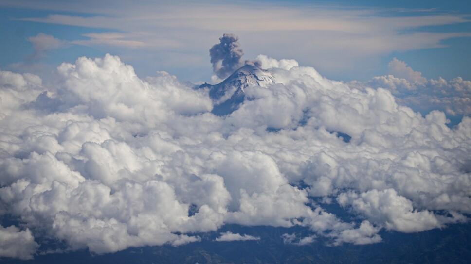 Actividad del volcán Popocatéptl