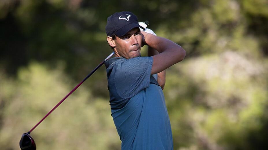 Rafael Nadal demostró que también en el golf es un crack