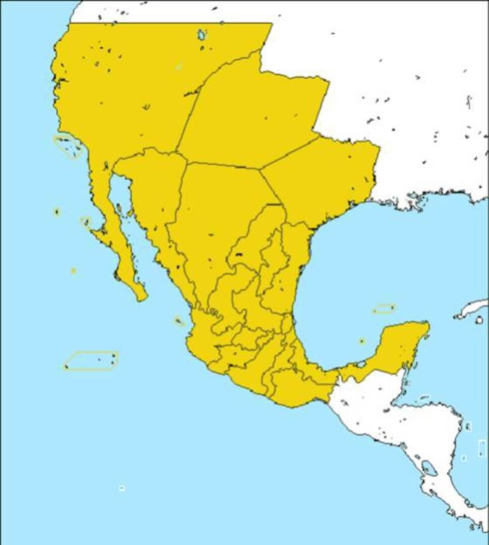 mapa mexico 1821