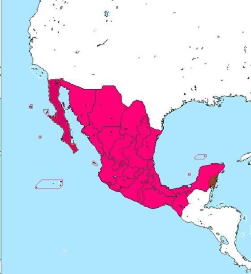 mapa mexico 1848