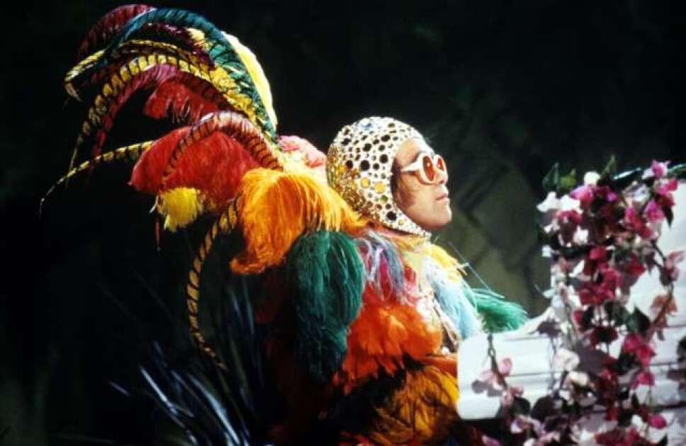 Traje de plumas de colores Foto Especial
