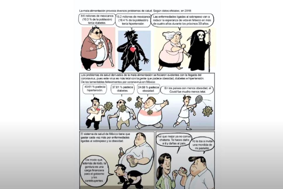 Con historietas del Fisgón buscan hacer conciencia en la alimentación
