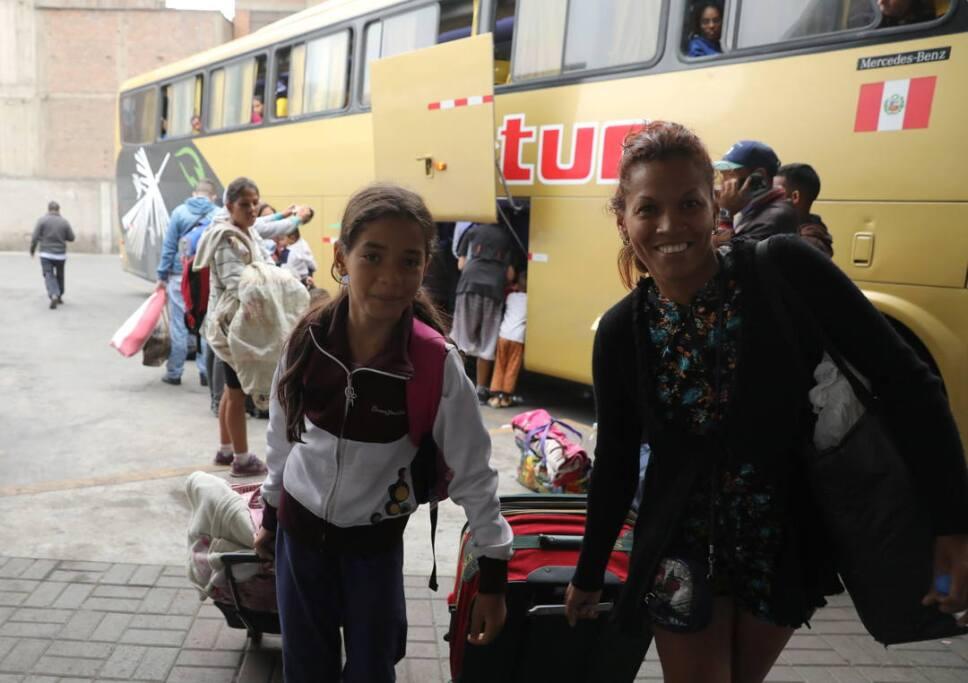 inmigrantes venezolanos camiones ecuador