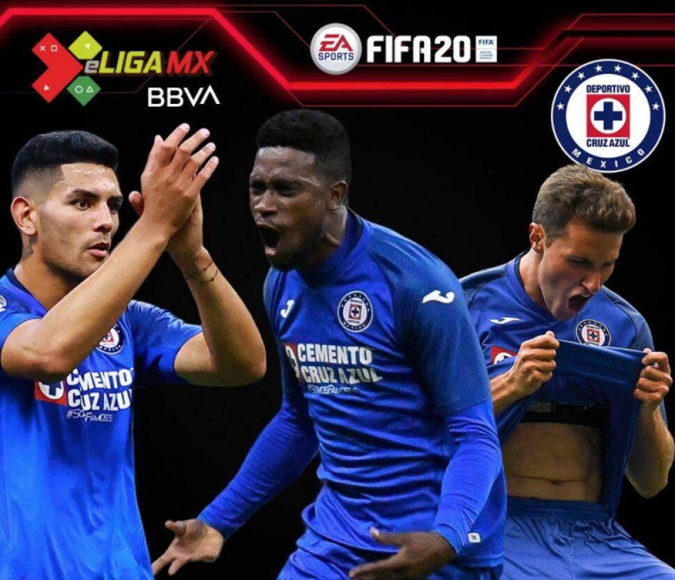 Los representantes de Cruz Azul en la e Liga MX