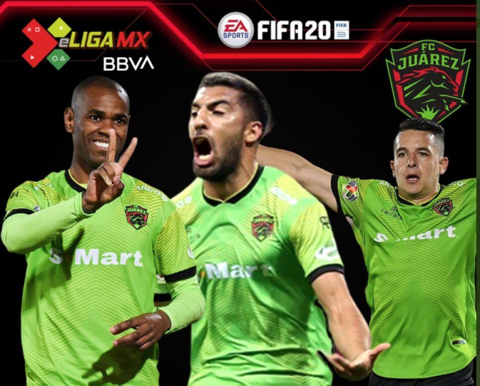 Jugadores de FC Juárez para la e Liga MX