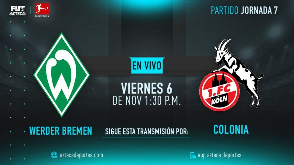 Werder Bremen vs Colonia | Jornada 7 Bundesliga