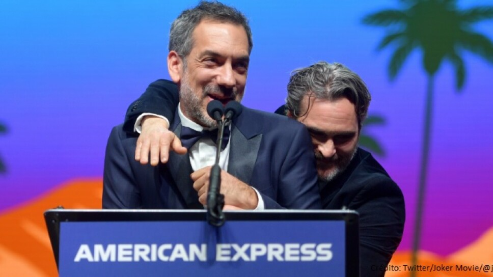Todd Phillips y Joaquin Phoenix, director y actor principal de Joker.