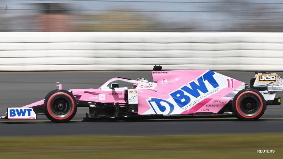Sergio Pérez en el Gran Premio de Eifel