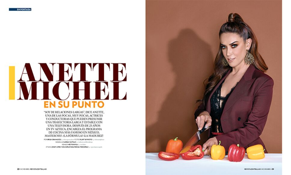 Anette Michel es nuestra portada de noviembre Foto Klint Photo