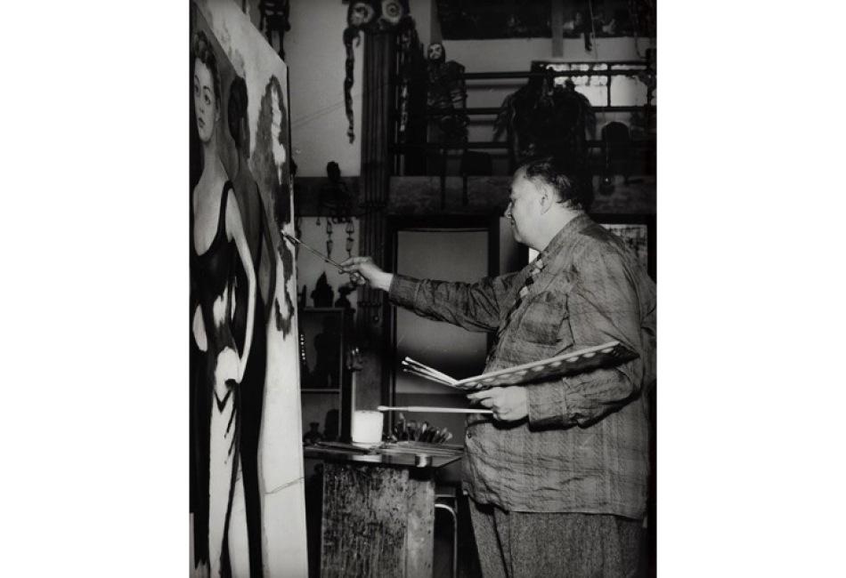 Diego rivera pintando