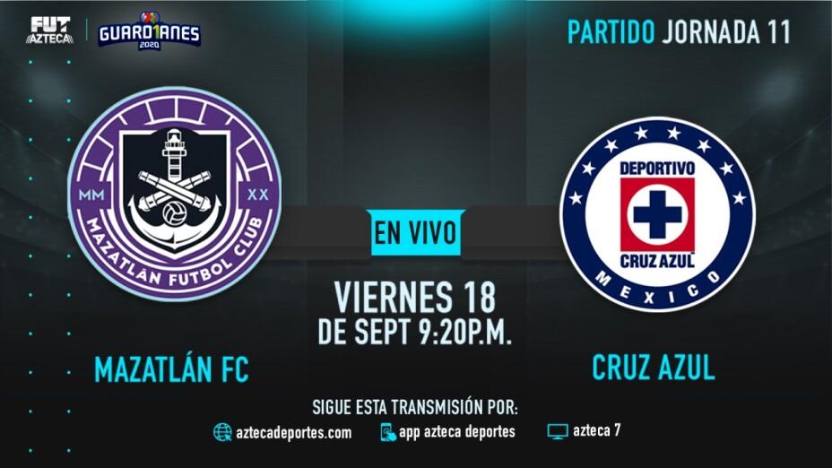 EN VIVO: Mazatlán FC vs Cruz Azul en Guardianes 2020