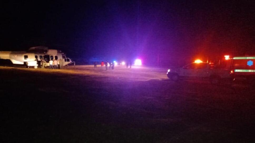 Desploma helicóptero en Chiapas