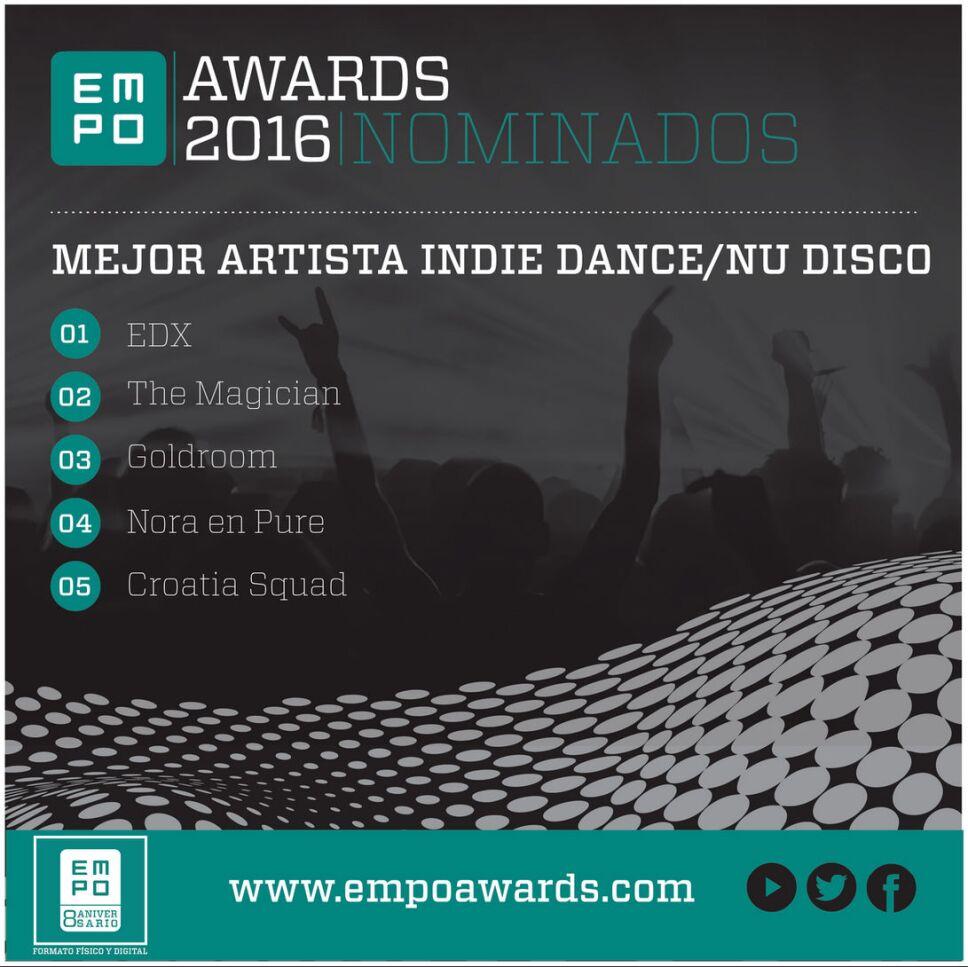 Mejor artista indie dance nu disco Empo Awards 2016