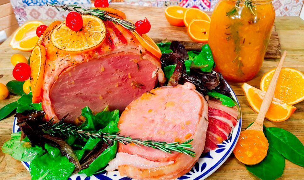 Receta Jamón en salsa de naranja