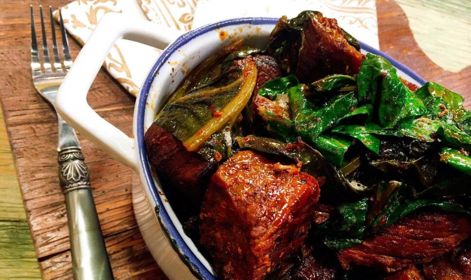 Receta Estofado de res en llamas Cocineros Mexicanos