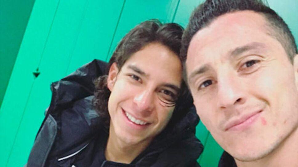 Andrés Guardado y Diego Lainez