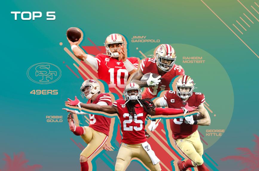 Los 5 mejores jugadores de San Francisco 49ers en la temporada 100 de la NFL