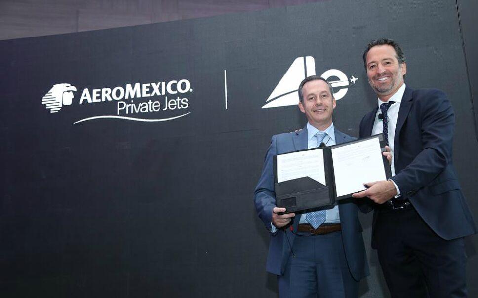 Grupo Aeroméxico y Aerolíneas Ejecutivas firman acuerdo comercial