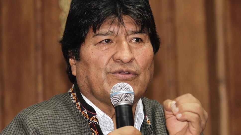 Conferencia de Evo Morales