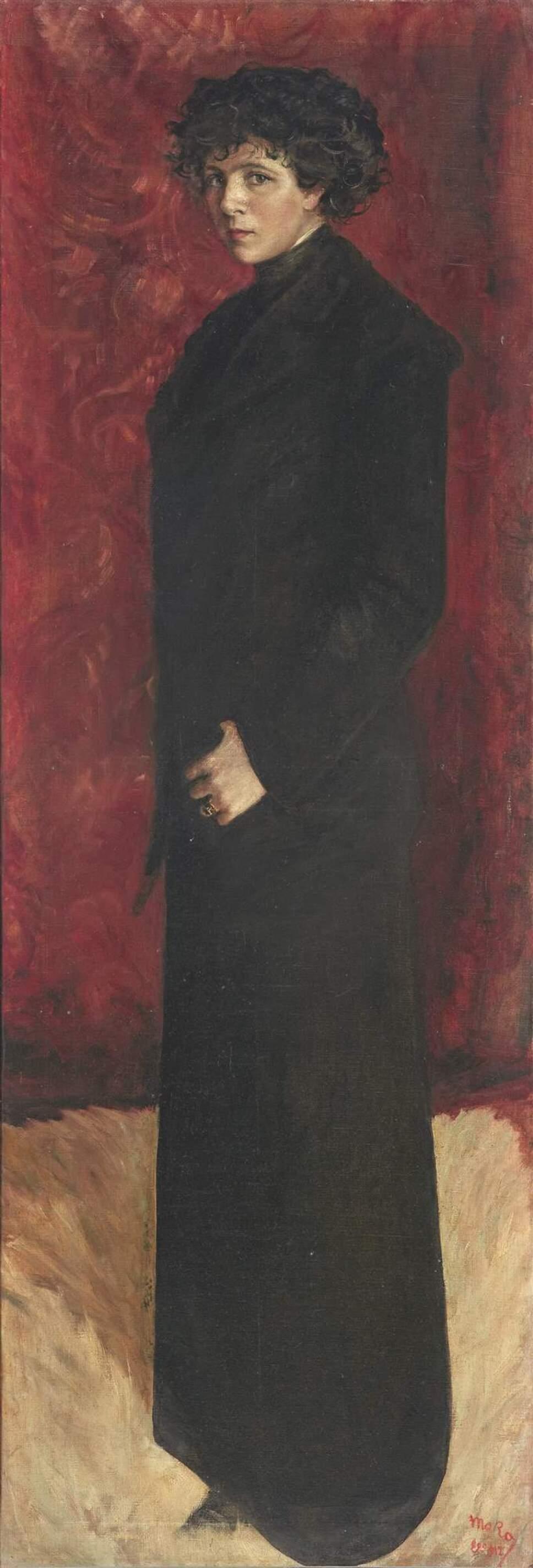 Autorretrato de cuerpo entero de Marisa Roësset (1912).jpg