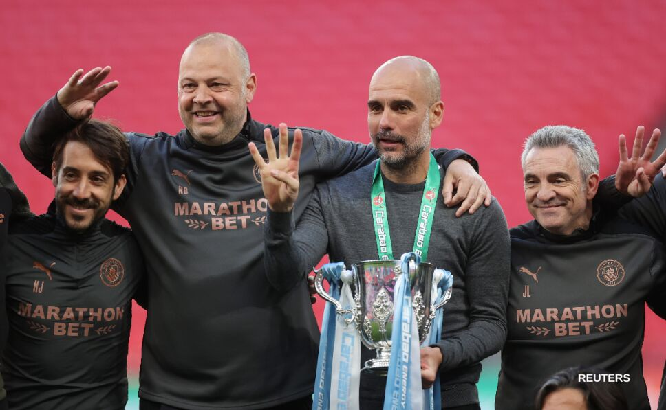 Pep Guardiola y su cuarta Copa de la Liga