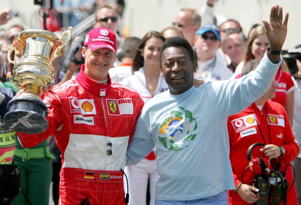 Michael Schumachern con Pelé