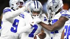 Trevon Diggs festeja con los Cowboys