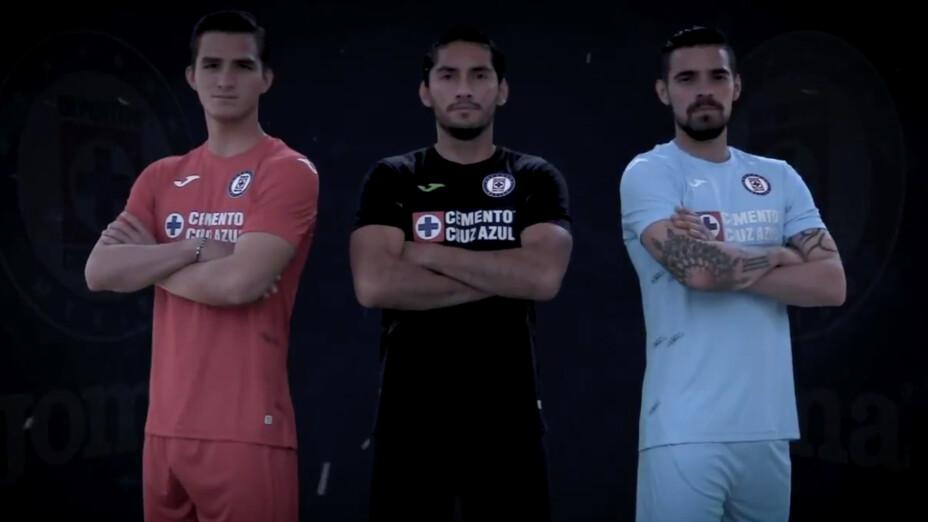 Las tres playeras de portero de Cruz Azul