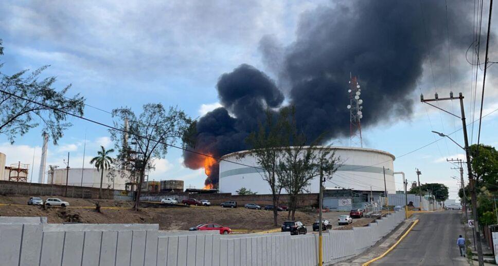 Incendio en refinería General Lázaro Cárdenas de Minatitlán.png