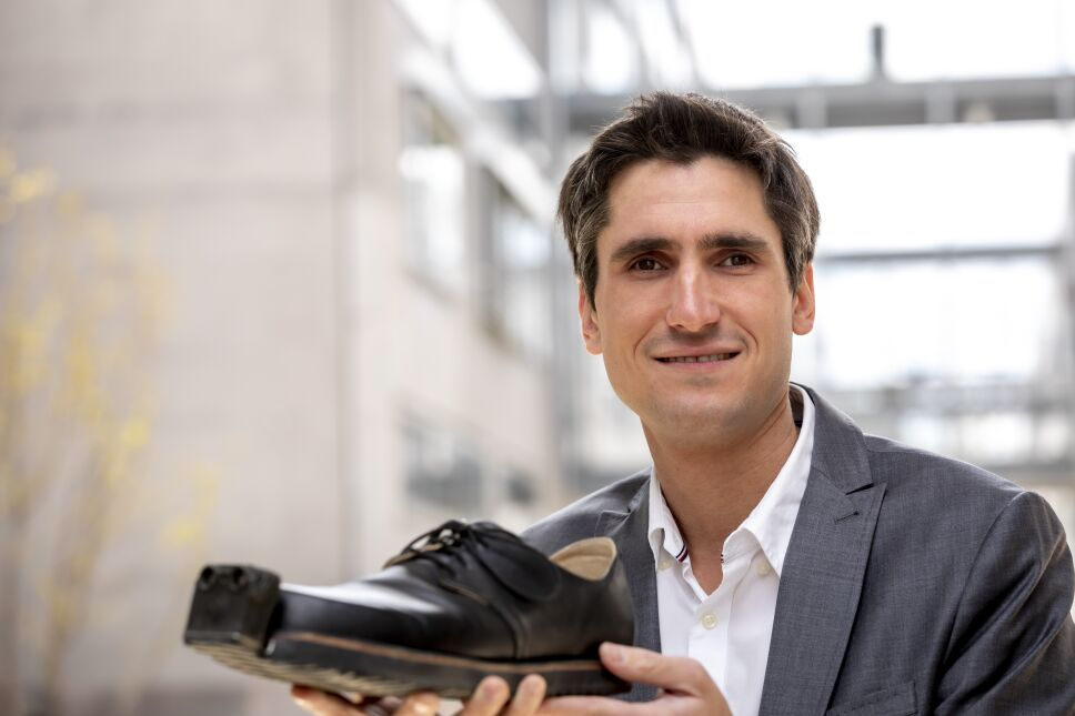 """Markus Raffer, uno de los fundadores de Tec-Innovation, creador de los zapatos """"inteligentes"""""""