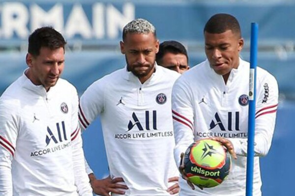 Messi, Neymar y Mbappe