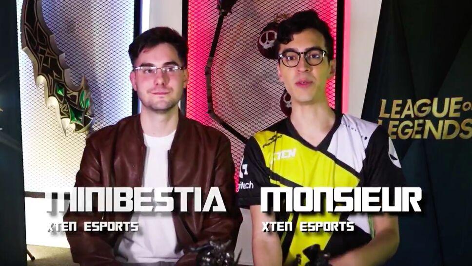 Monsieur y Mini Bestia de Xten esports
