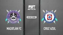 Mazatlán 2- 0 Cruz Azul   Jornada 13   Liga Femenil