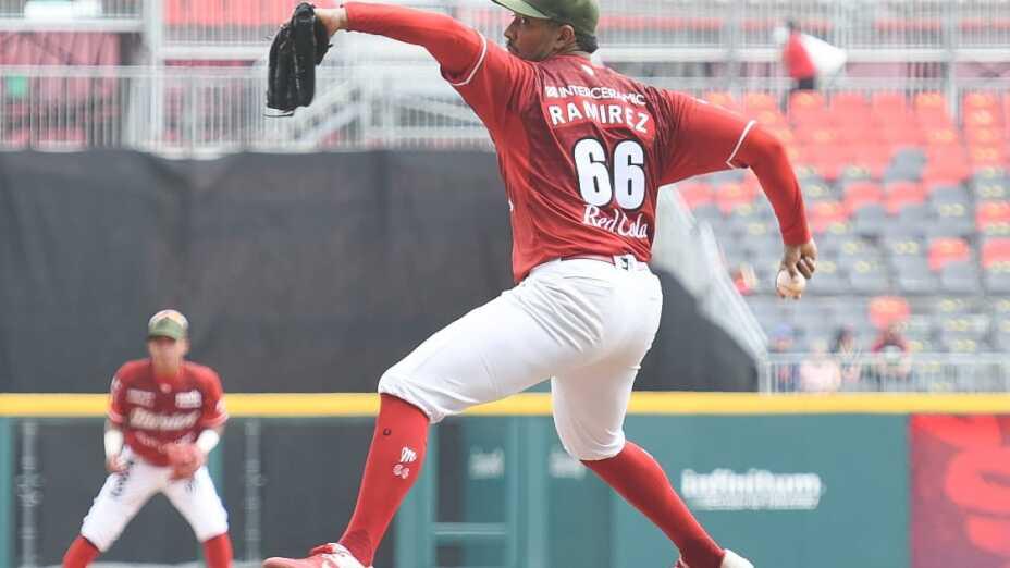 JC Ramírez, lanzador de los Diablos