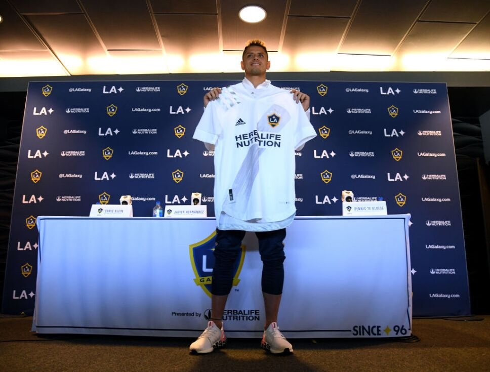 Los Angeles Galaxy Introduce Javier Chicharito Hernandez
