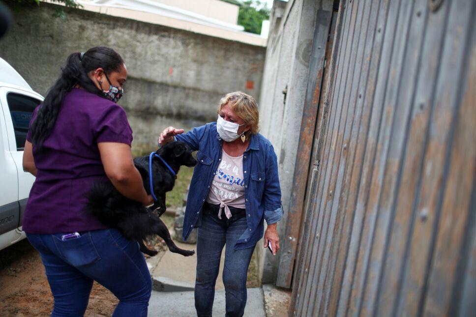 """Nuevo servicio de """"entrega de mascotas"""" lleva compañía a brasileños aislados"""
